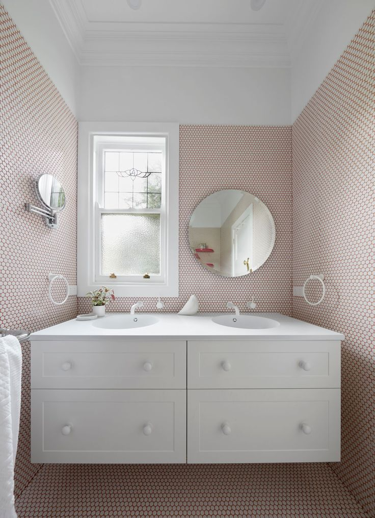 Pretty in pink in our Maribyrnong home. Designed and built by smarterBATHROOMS+