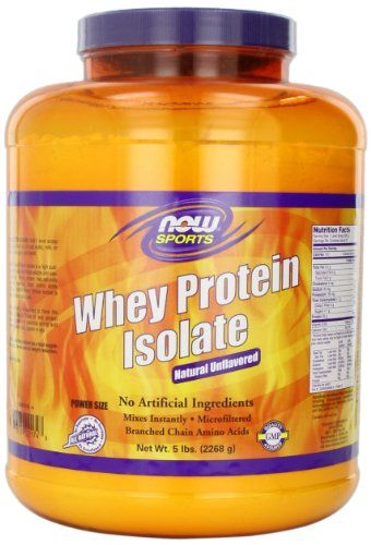 NOW Foods Whey Protein Isolate, 100% Pure 5Lb (Packaging May Vary) | Multicityhealth.com List Price: $107.11 Discount: $55.81 Sale Price: $51.30
