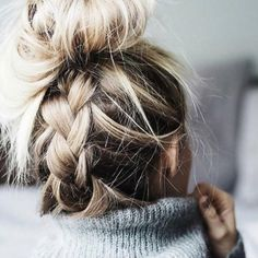 This braid bun is exactly how we want to look on a casual Sunday.