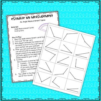 Estimate My Measurement~An Angle Measuring Game | Math-4th