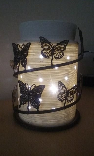 How beautiful is this Scentsy Warmer this one is our Etched core Silhouette warmer with the stunning butterfly wrap!
