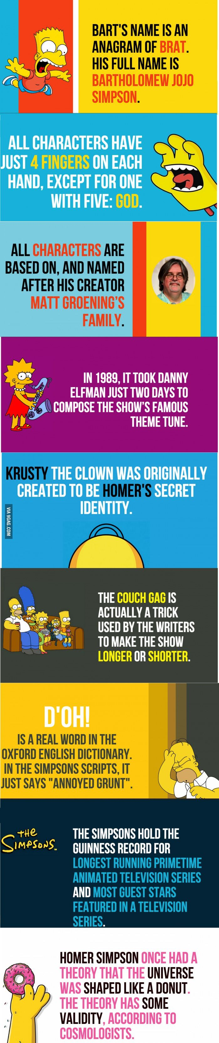 Some Facts About The Simpsons You Never Knew