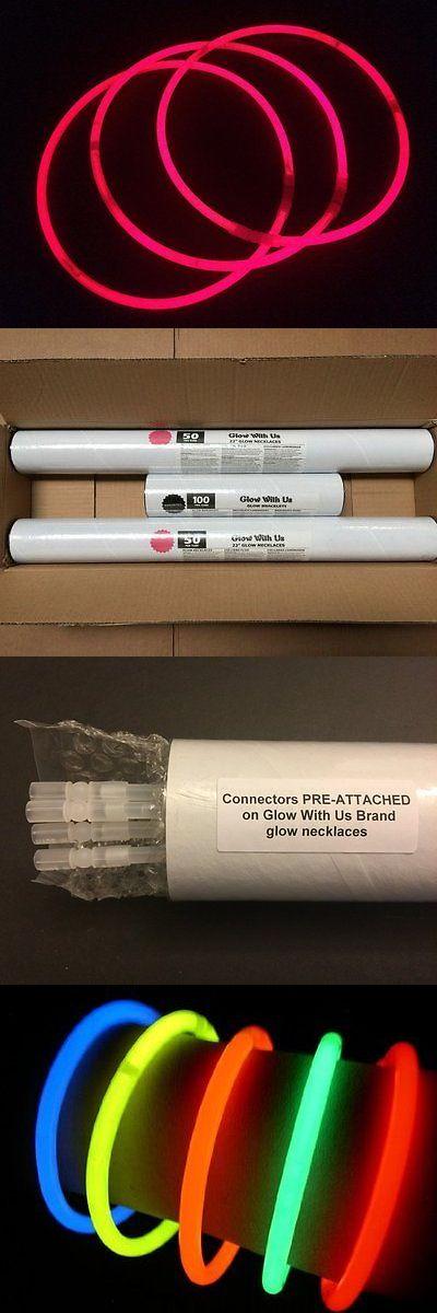 """Glow Sticks 51019: Glow Sticks Bulk Wholesale Necklaces, 100 22"""" Pink Glow Stick Necklaces +100 -> BUY IT NOW ONLY: $54.88 on eBay!"""