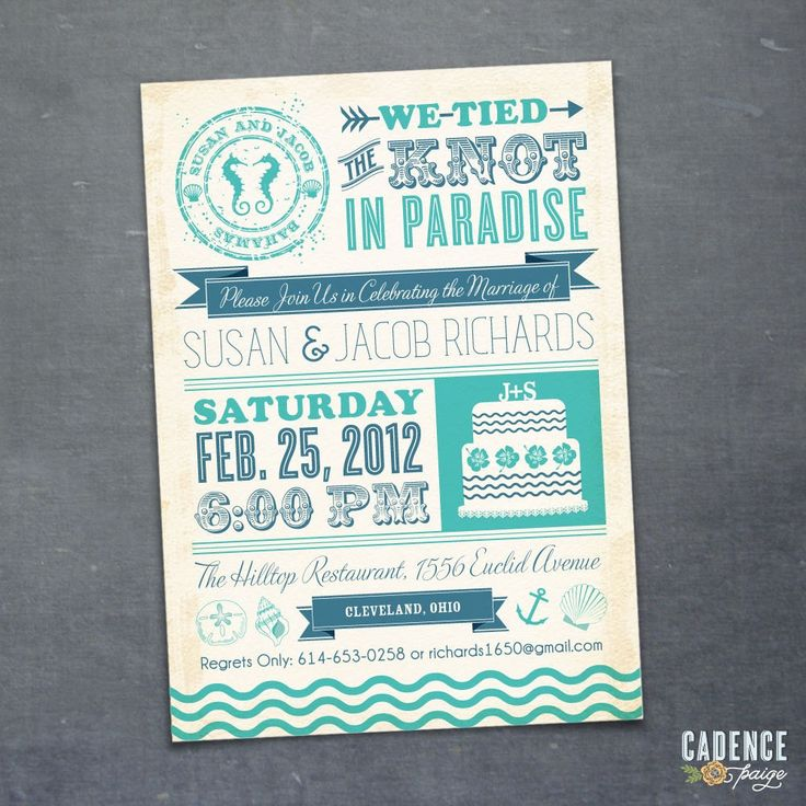 Wedding Reception Invitations Wording After Destination Wedding