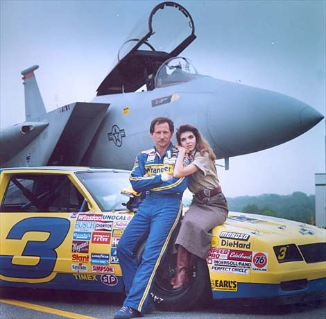 1987 Statistically, Earnhardt has the most dominating year of his career, recording 11 victories, at one point reeling off four in a row. He finishes in the top five 21 times in 29 races and wins third Winston Cup Championship.  Dale and Teresa Earnhardt in 1987.   #DaleEarnhardtMemorial http://www.pinterest.com/jr88rules/dale-earnhardt-memorial/