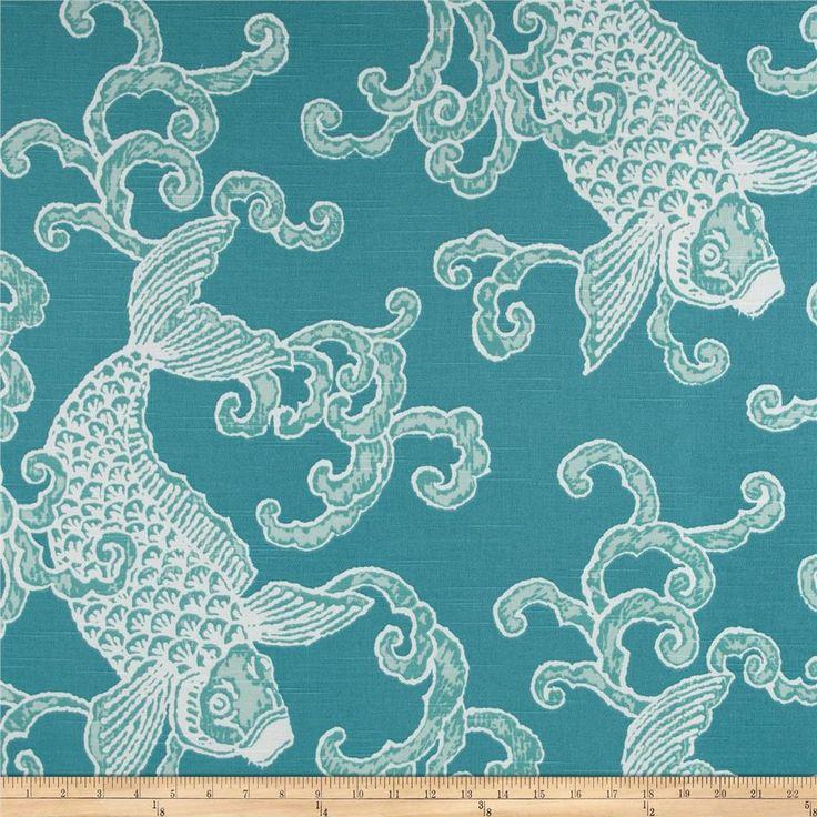 Wall Decor Fabrics : Home accents pisces slub seafoam valance curtains