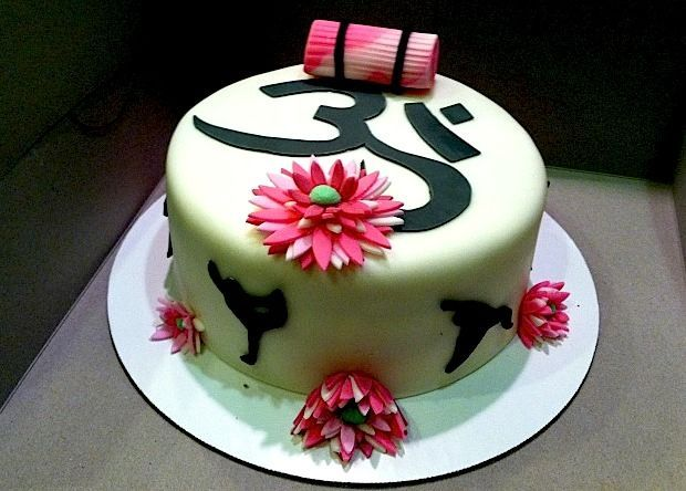 Mehndi Cake Quotes : Best yoga cake images petit fours anniversary