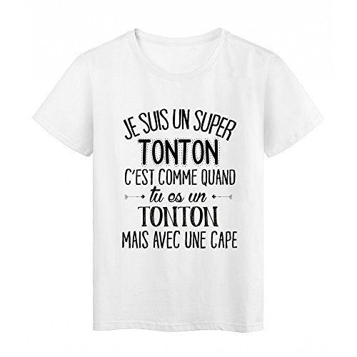 7a0138173220 T-Shirt citation Je suis un super TONTON ref Tee shirt 2054 - S