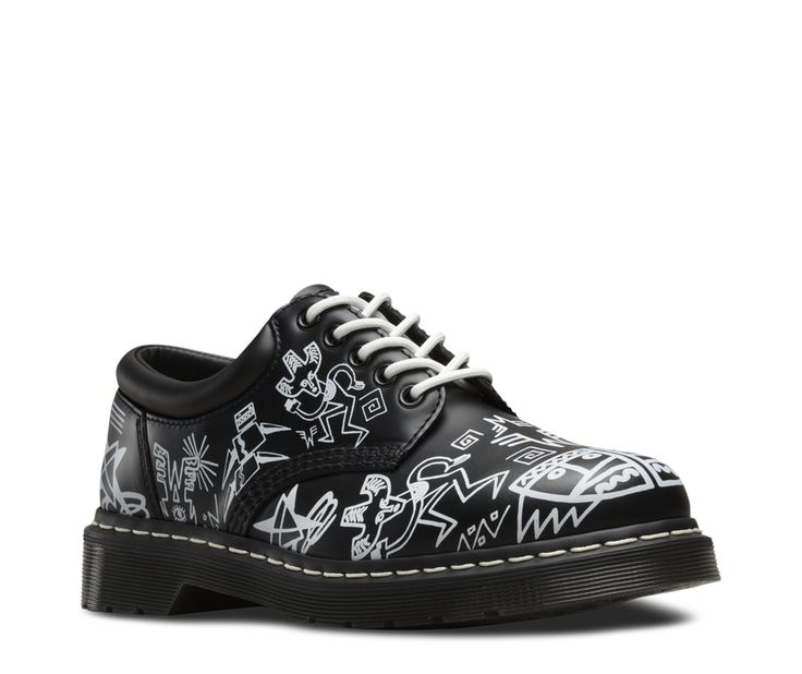 WIGAN AZTEC 8053. From the official Dr Martens site. Artwork by Mark Wigan. I know these are shoes but I really wish these were also offered in a boot option like a 1460. These have more of an urban vibe in my opinion compared to the white  Wigan Aztec boots being offered.
