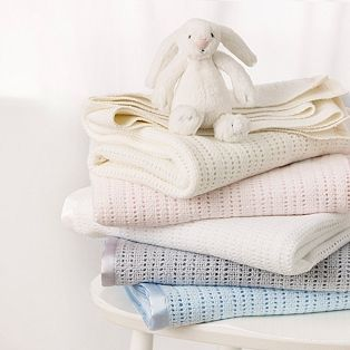 These Satin Edged Cellular Baby Blankets are beautiful... we had the grey one and used it every day. So soft!