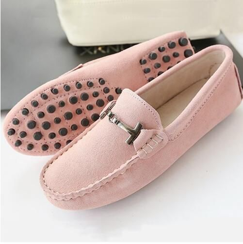 Women's Teland Leather Loafers Slip-On Flat Shoes Casual Driving Shoes