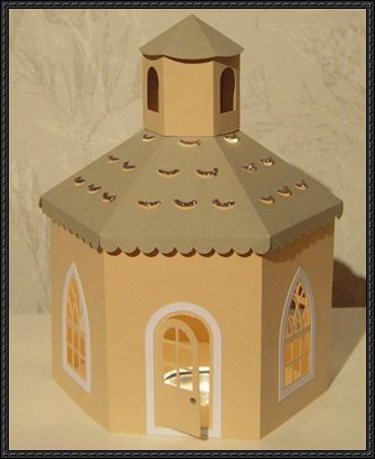 3d chapel free building paper model download http www for 3d paper lighthouse template