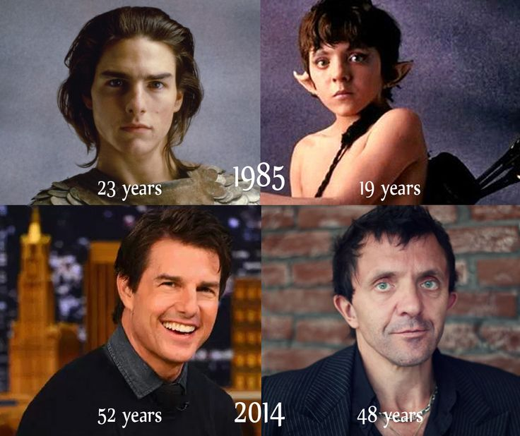 Strange aging of Tom Cruise and David Bennent