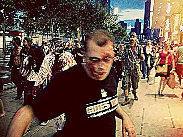 Zombie Walk Frankfurt 2013 - myself, zombified!