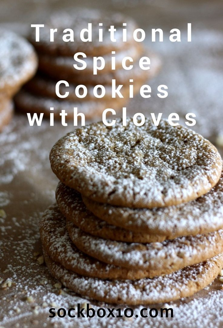 Traditional Spice Cookies with Cloves - Sock Box 10