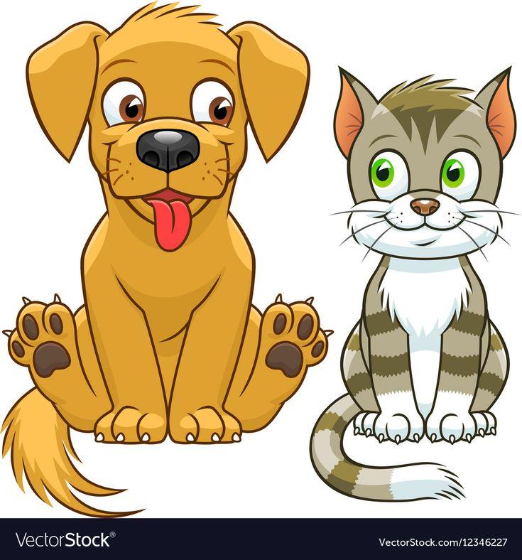Картинки мультяшные собаки и кошки