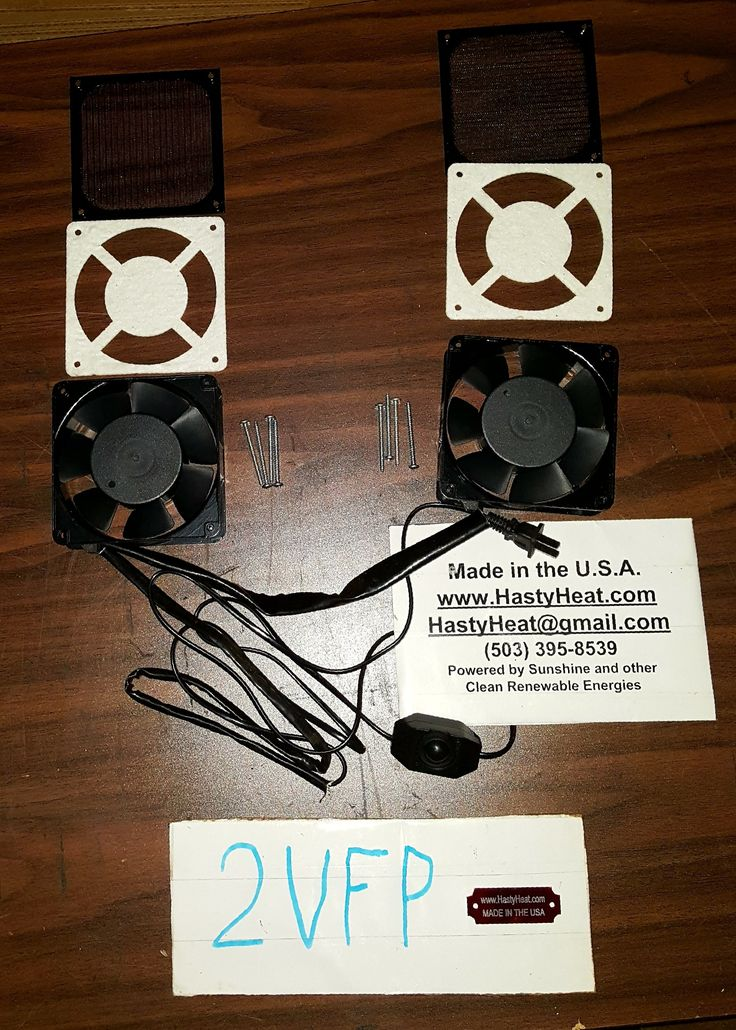 2VFP Two Fan Pack Fireplace Blower with Speed Control Bundle