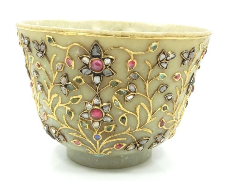 Mughal Empire 18th C. Mutton-Fat Jade Cup Hilt W/S - by GWS Auctions