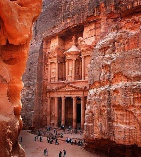 "the ruins of Petra, Jordan, named by the Smithsonian Magazine as one of the ""28 Places to See Before You Die."""