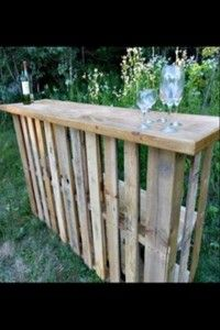 uses for old pallet ideas (29) wet bar love this just add some paint :)