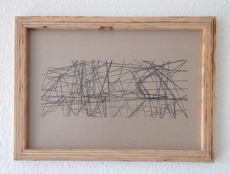 DIY by Sofie Dybdal Hansen #DIY #krydsfiner #ramme #plywood #frame #grafisk #graphic #design #artwork