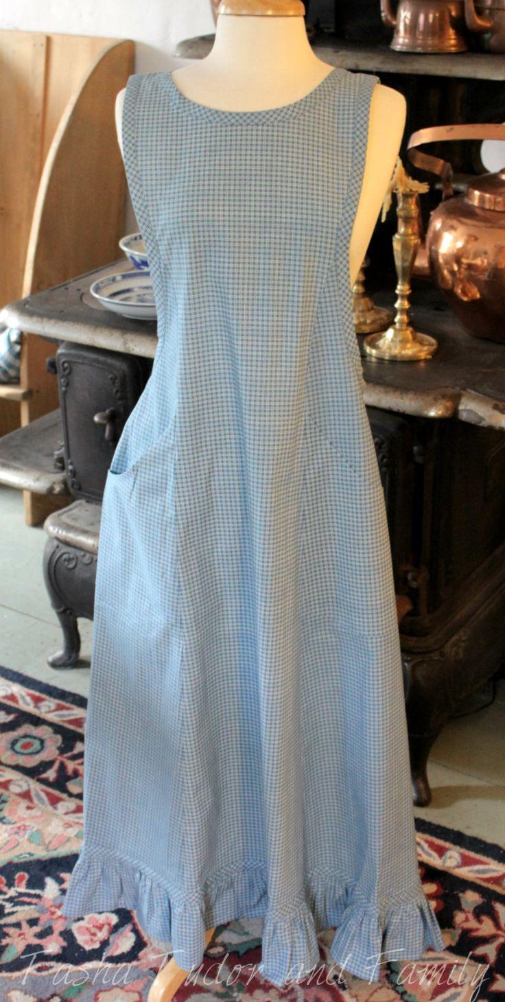 White tudor apron - Tasha Tudor Apron Pinafore Standard Front