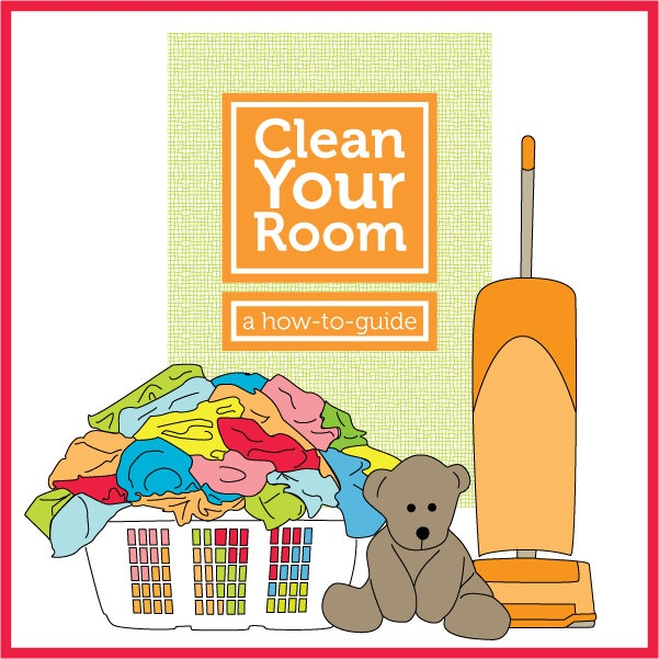 Clean Your Room - a how-to guide - A digital download booklet with simple steps to teach kids to clean their rooms. $6.00, via Etsy.