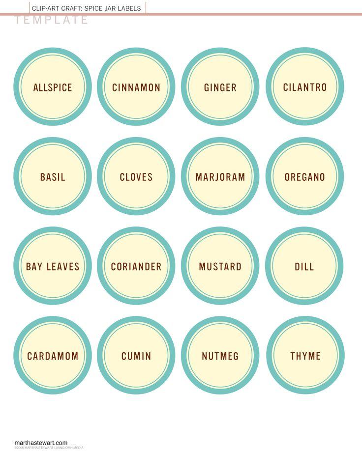 22 Best Spice Jar Labels Images On Pinterest