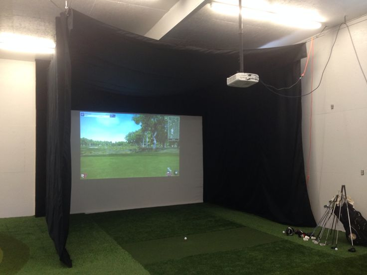 Pga indoor golf teaching studio golf pinterest golf for Interior design room simulator