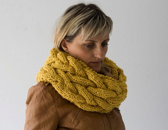 Neck Warmer in Mustard Yellow, $82