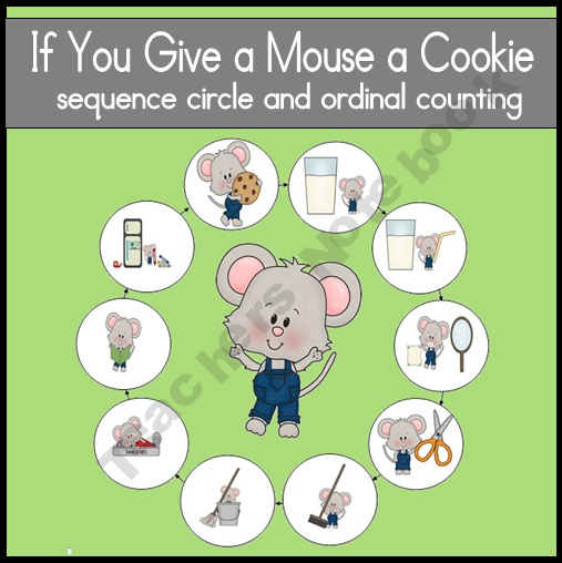 """""""If You Give a Mouse a Cookie"""" Sequencing ActivitiesMice, Teachersnotebook Com, Cookies Sequences, Sequencing Activities, Prek Literacy Activities, Speech Therapy, Sequences Activities, Teachers Notebooks, Therapy Ideas"""