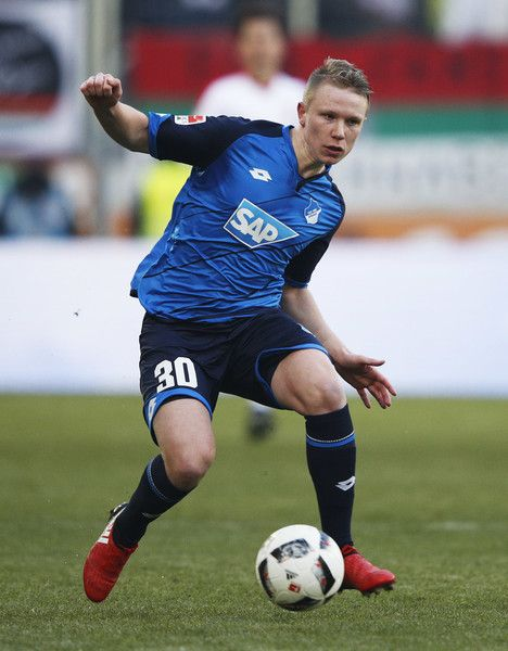 Philipp Ochs of 1899 Hoffenheim in action during the Bundesliga match between FC Augsburg and TSG 1899 Hoffenheim at WWK Arena on January 21, 2017 in Augsburg, Germany.