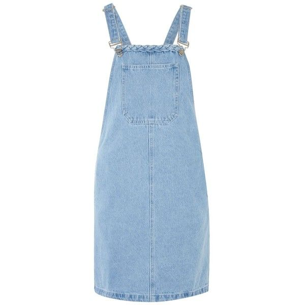 Denim Pinafore Dress by Glamorous Tall (571.280 IDR) ❤ liked on Polyvore featuring dresses, overalls, clothes / dresses, blue, blue color dress, denim pinafore dress, pinny dress, glamorous dresses and denim dresses