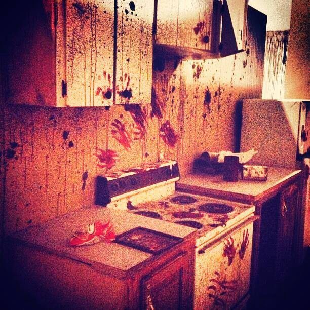 haunted house kitchen scene room haunted house