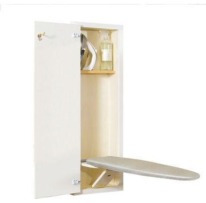 Lowe's  Style Selections White Ironing Board - $159 If you're fortunate enough to have a large bedroom closet, this fold-out ironing board would surely come in handy.