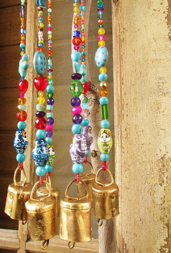 Mobile Bells Décor Glass Bead Strands-Wind Chime-Hanging Ceiling Decoration