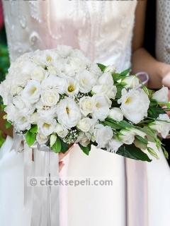 'White Dreams' Bridal Bouquet - Çiçek Sepeti