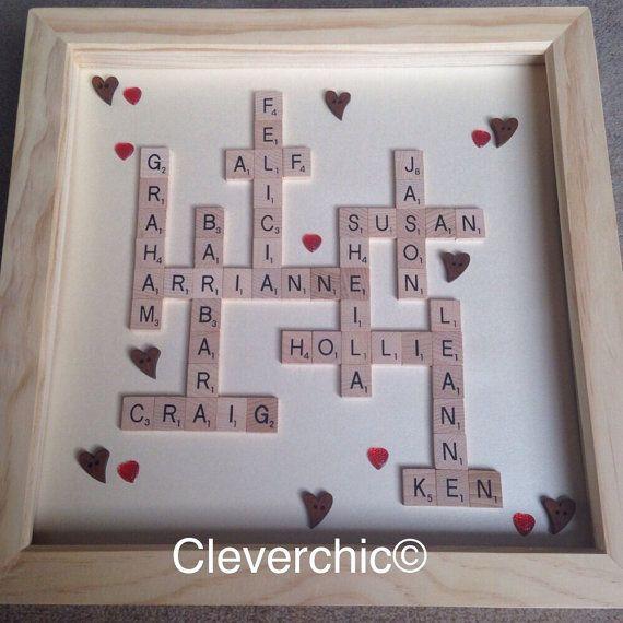 Scrabble Art Family Names Frame Scrabble Frame by Cleverchic1