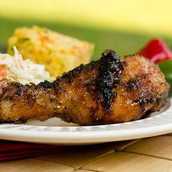 Grilled Chicken Drumsticks with Spicy Apple Glaze.  get ready 4 summer...