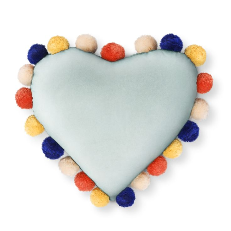 Oh Joy for Target Velvet Pom Pom Heart Pillow
