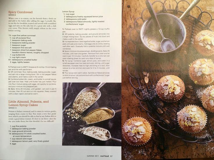 Little Almond, Polenta and Lemon Syrup Cakes