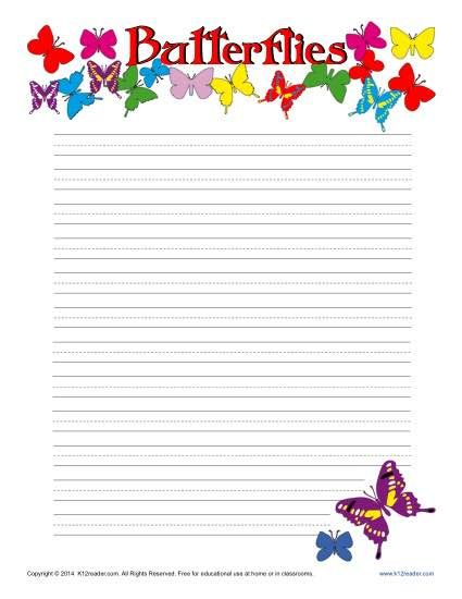 114 best Printable Lined Writing Paper images on Pinterest - notebook paper template