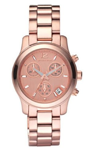 rose gold watch by michael kors