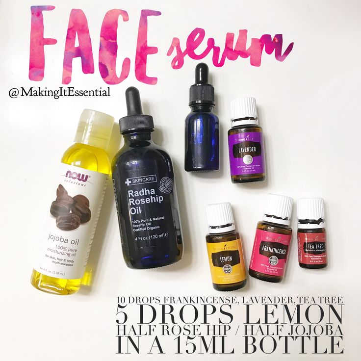 Essential oils rose hip oil and jojoba oil to the rescue