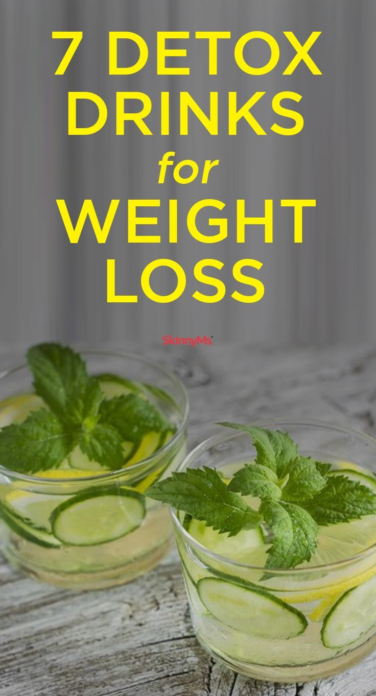 Add these 7 detox drinks for weight loss to your clean eating regime.  #skinnyms #weightloss #detox