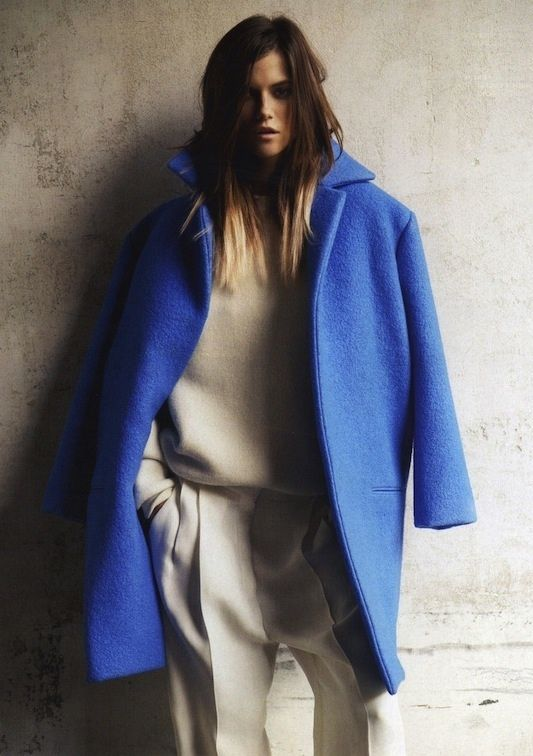Photos: Knoepfel & Indlekofer featuring Kasia Struss for Vogue Russia September 2012 | Céline Fall 2012 RTW coat
