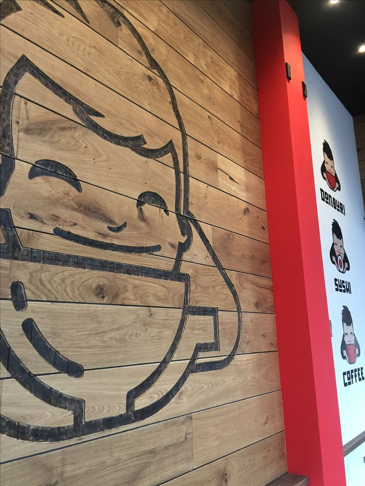 Sushi and donburi cafe - restaurant with etching and strong brand elements.