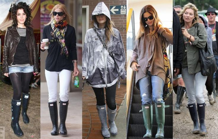 Hunter boots celebrity style and fashion