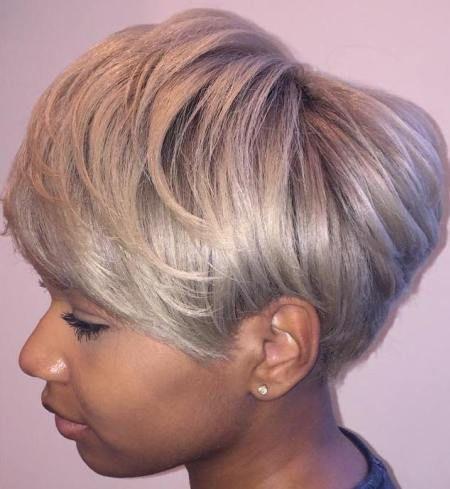 Ash Blonde Pixie Bob For Black Women