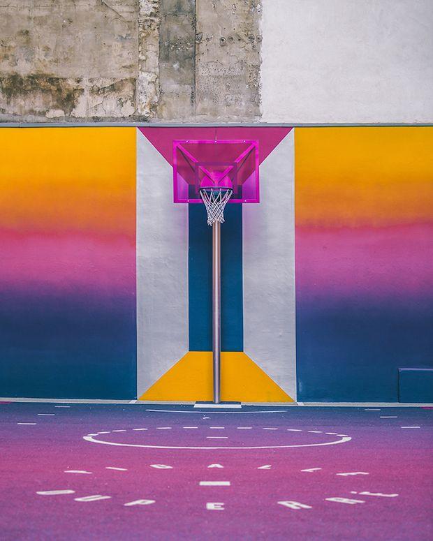 Marca francesa Pigalle + Nike quadra de basquete colorida - 9º arrondissement de Paris